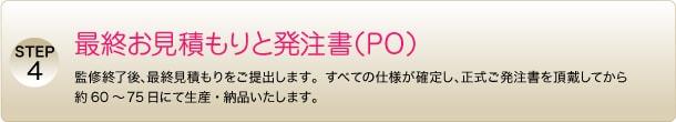 STEP4 最終お見積もりと発注書(PO)